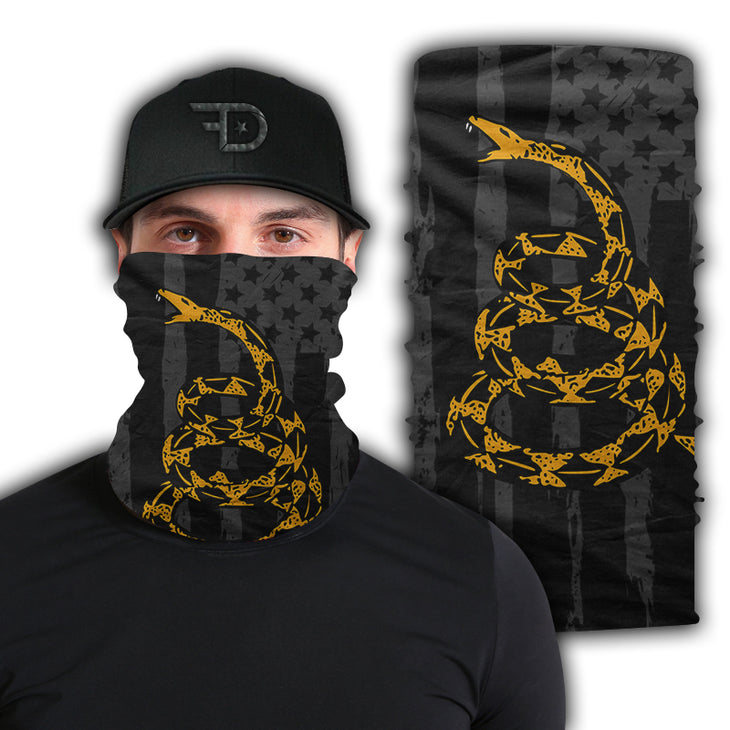 Blacked Out Don't Tread Face Mask