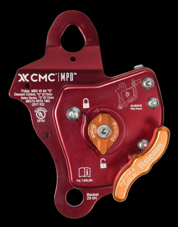 Rescue belay CMC MPD devices FOR 11mm and 1/2