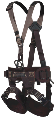 Yates 386 Basic Rigging full body Harness ANSI 359.12 certified & tagged with quick release leg buckles and 3 d-rings used for stage , concert tour and steel build cirque du soliel building & assembly