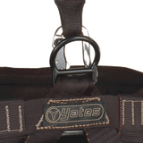 Yates  380 Voyager Rescue Harness w/shoulder D-Rings with steel fly chest connector.   UL Classified to meet NFPA 1983/2017 edition standards  • UL Classified ANSI/OSHA Z359.11-2014 and CAN/CSA Z259.10-12 harness standards  SPECIAL NOTICE ON STERNAL ATTACHMENT OF LANYARD FOR FALL ARREST.  ANSI Z359.11-2014 Sternal Attachment