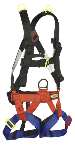 Yates #335 Heavy Rescue Harness w/shoulder D-Rings for use with tripods in confined space rescue in any time shoulder Deerings need to be rated for suspension.  Rope Access SPRAT/IRATA ready now at a deeply discounted sale closeout price