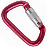 "Omega Pacific 1/2"" Modified D Red  -Quik-Lok Carabiner -NFPA"
