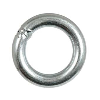 Fixe Rappel Rings are made from 11mm rod stock and are T.I.G. welded. Used with conventional sling material or screw links and chain. A rappel ring completes any anchor.  Plated Steel: 35kN/8500lbs  Inner Diameter- 1 3/8