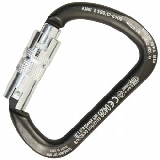 KONG X-LARGE STEELKong ANSI 3600Lb gate & NFPA Autolocking carabiner-2 & 3 stage