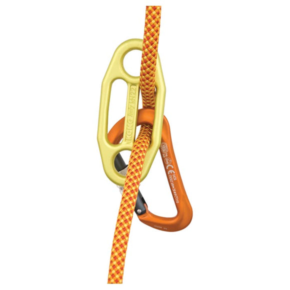 KONG GIGI liberty mountain part#LM-434826. This is the original auto blocking or auto locking mountain climbing guide believe device for use for two people from the anchors