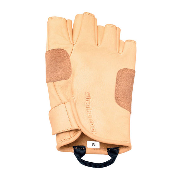SINGING ROCK GRIPPY LEATHER 3/4 Finger GLOVES Liberty Mountain part#449105 449106 449107 449108 these replace the metolius 3/4 finger gloves that are no longer fabricated