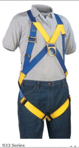 MIO #933-2  Two D-Ring Harness -No pads.   An excellent harness for window washing and ladder climbing worry do you ring at the sternum in addition to the dorsal doing are OSAH compliant and desired