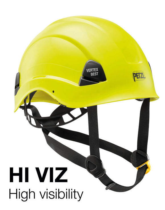Petzl VERTEX® BEST Comfortable helmet for work at height -ANSI Z89.1-2009 type I classe E hi-vis yellow this non-vented version needs the NCNCSAOSHA certification rating for use in electrical fields