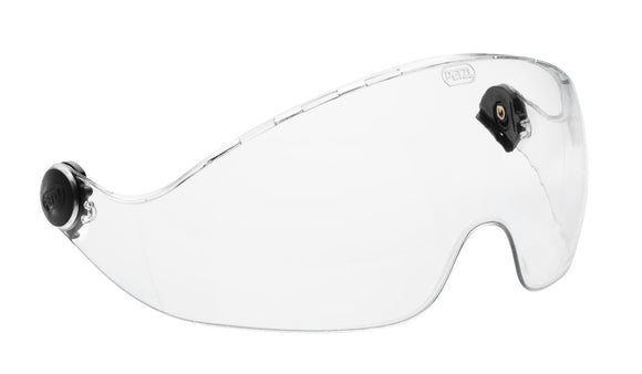 Petzl VIZIR Protective eye shield for VERTEX and ALVEO helmets-Clear or Smokey
