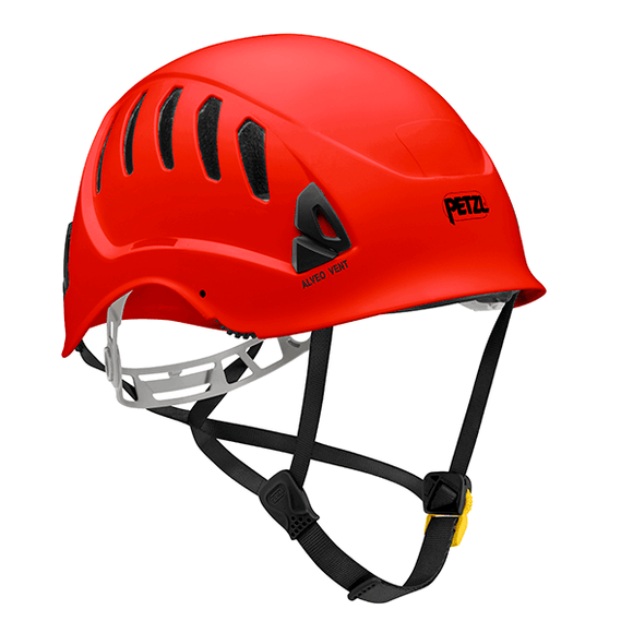 Petzl ALVEO VENT  Ventilated helmet for work at height -ANSI Z89.1-2009 type I classe C red