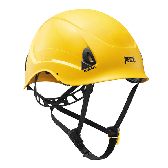 Petzl ALVEO BEST  Lightweight helmet for work at height -ANSI Z89.1-2009 type I classe E yellow.   Rope Access SPRAT/IRATA ready now at a deeply discounted sale closeout price