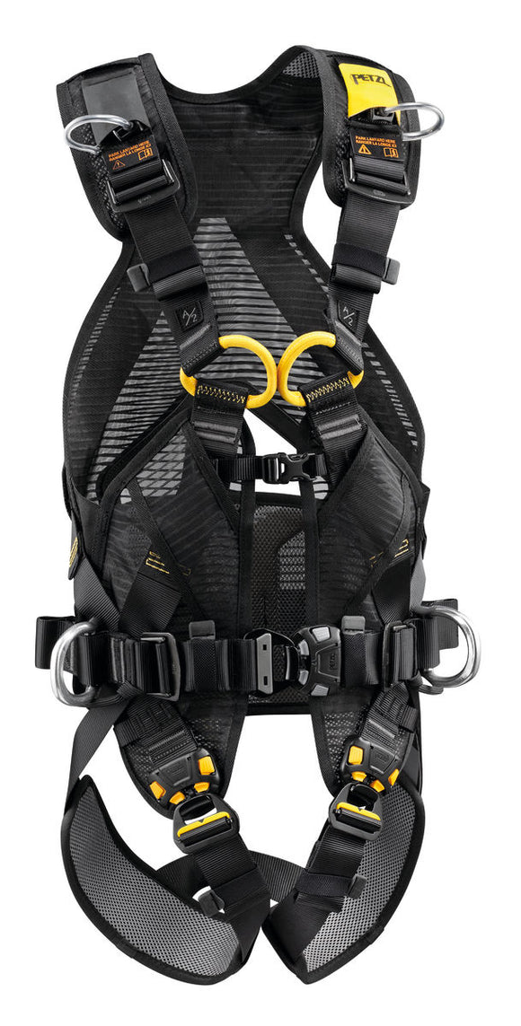 Petzl VOLT® LT Fall arrest and work positioning harness part#PT-C72AFA 1U easy to put on with three quick release buckles at the sternum and each leg QR buckle