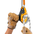 Petzl I'D® EVAC Self-braking descender with anti-panic function for lowering from an anchor part#PT-D020CA00 yellow