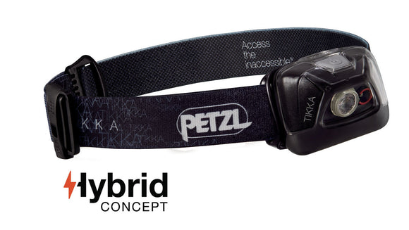 Petzl TIKKA® Compact headlamp for proximity lighting -200 lumens.   IPX4 (weather resistant): a rating suitable for most headlamp use in rain, snow or a humid environment. now at a deeply discounted sale closeout price
