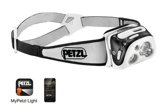 Petzl REACTIK® + Multi-beam, rechargeable headlamp that is programmable-300 Lumens.  IPX4 (weather resistant): a rating suitable for most headlamp use in rain, snow or a humid environment. now at a deeply discounted sale closeout price