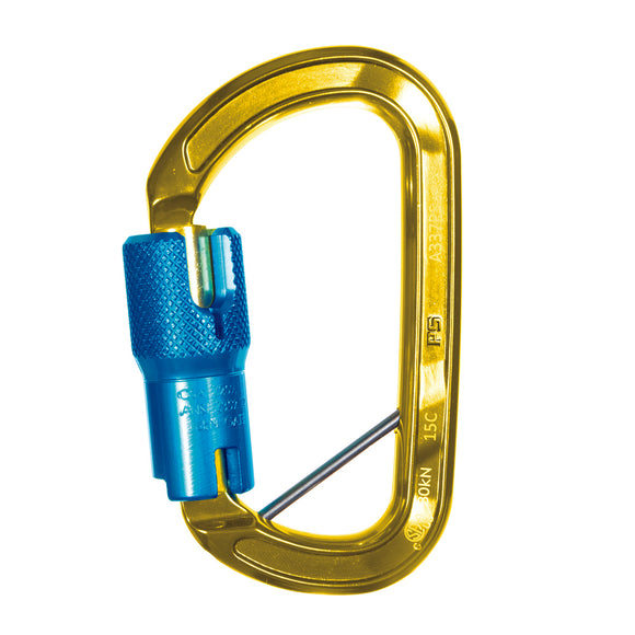 ISC ASD w/Pin Carabiner -3600Lb gate -ANSI Z359 tagged-Aluminum for use by arborists and within AZTEK kits