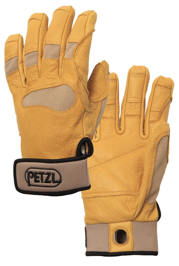 Petzl CORDEX PLUS Belay/rappel gloves part#k53 tan use for stage rigging, arborist/tree care work, SPRAT/IRATA Rope access wind turbine work, commucrion cell tower climber work backcountry skiing