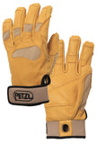 Petzl CORDEX PLUS Belay/rappel gloves part#k53 tan use for stage rigging, arborist/tree care work, SPRAT/IRATA Rope access wind turbine work, commucrion cell tower climber work backcountry skiing. SAR, mountain rescue, USAR ready.  Rope Access SPRAT/IRATA ready now at a deeply discounted sale closeout price
