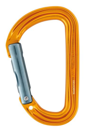 Sm'D Ultra-light asymmetric Non-Locking carabiner GOLD replacung the petzl spirit