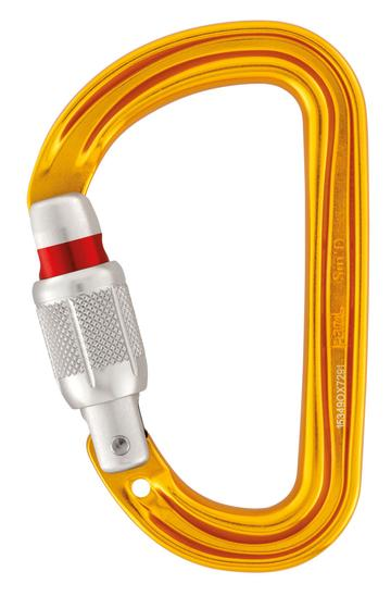 petzl Sm'D Ultra-light asymmetric SCREWGATE carabiner part#M39A SL. now at a deeply discounted sale closeout price