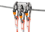 Petzl #P24AUB *TRAC Drop-proof pulley for Tyrolean traverses *H-Frame