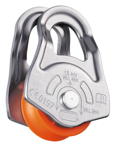 FOR GLACIER AND MOUNTAIN RESCUE USE Petzl OSCILLANTE  Swing-sided emergency pulley