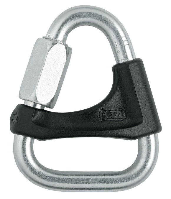 Petzl 8mm DELTA Triangular steel quick link w/captive keeper- Silver or Black