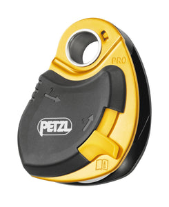 rope can be easily installed even when the pulley is connected to the anchor ON THE P46 Petzl PRO drop proof pullley