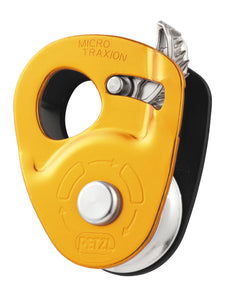 PETZL micro traxion p53 may be used as simple pulley by locking the cam in the raised position