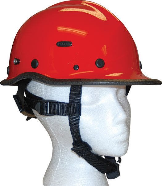 Pacific R5 Rescue Helmet - Compliant to ANSI Z89.1 red Can survive top side rear and front multiple impacts unlike plastic Helmets