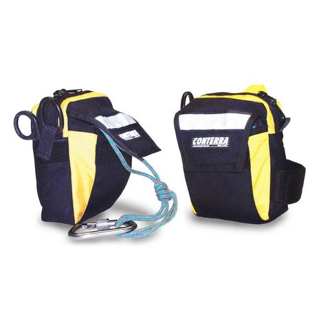 Conterra Rigging Utility Pouch -Aztek kit ready! PART#RUP1 stage riggers tool bag attaches by velcro cordura flap to any belt or webbing harness waist section. SAR/Mountain rescue ready now at a deeply discounted sale closeout price