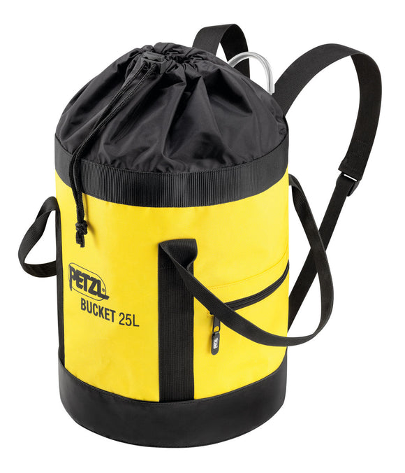 Petzl's 25 L and 35 L ROB bucket self standing for easy loading with a 12+ inch opening for arborist in any field of work and Rescue is of reloading and flaking Rope