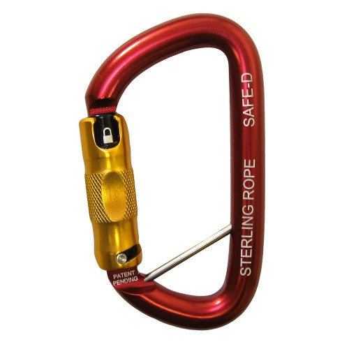 SafeD Twistlock/2-Stage Carabiner w/ Lanyard Pin -Aluminum *NFPA 1983