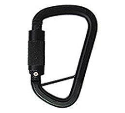 AM Steel D with twistlock autolocking gate -ANSI 3600# no snag gate ~BLACK part#9005B-TK. ANSI z359.12-2009 3600lb rated gates.  SAR, mountain rescue, USAR ready.  Rope Access SPRAT/IRATA ready now at a deeply discounted sale closeout price