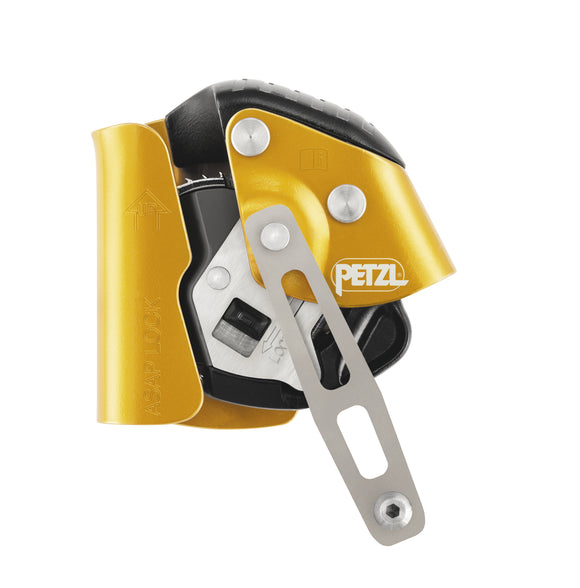 The Petzl ASAP LOCK Mobile fall arrester with locking function is popular with rope access users from SPRAT & IRATA certification specs and wind turbine use ASAP LOCK Mobile fall arrester with locking function PART#B71ALU