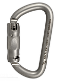 Rock Exotica rockD Stainless Steel Carabiner 3-stage autolocking 3600Lbs gate part#C2S A for the superior anti corrosion/rust performance in salt water environments even.  ANSI z359.12-2009 3600lb rated gates.  SAR, mountain rescue, USAR ready.  Rope Access SPRAT/IRATA ready now at a deeply discounted sale closeout price