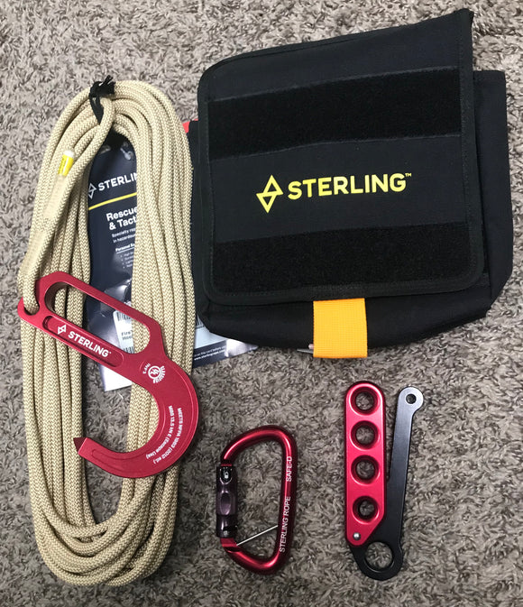 Sterling rope F4 FireTech Lightning Escape System w/Escape Kit Pocket Bag part#F4fTPBGT