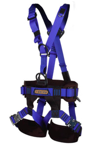 Yates 384 Technical Rescue II full body Harness for use by fire rescue fire fightr rope rescue teams NFPA 1983 certified and tagged.    SAR, mountain rescue, USAR ready.  Rope Access SPRAT/IRATA ready now at a deeply discounted sale closeout price