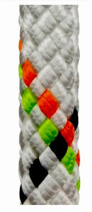 "7/16"" - Static Master Pro™ White Static Kernmantle Rappelling Rope for rope access, wind turbine, cell tower and rescue use at 6300Lbs. MBS in a 100% polyester fiber similar to the lower stretch Sterling HTP models.  Spools of Rope Access SPRAT/IRATA/Rockfall ready kernmantle now at a deeply discounted sale closeout price"