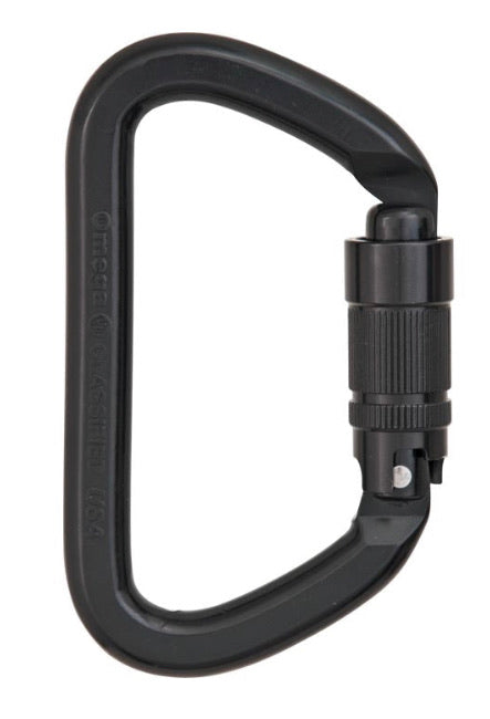 Omega Pacific NFPA G-FIRST 40Kn ALUMINUM CARABINER QUIK-LOK - BLACK