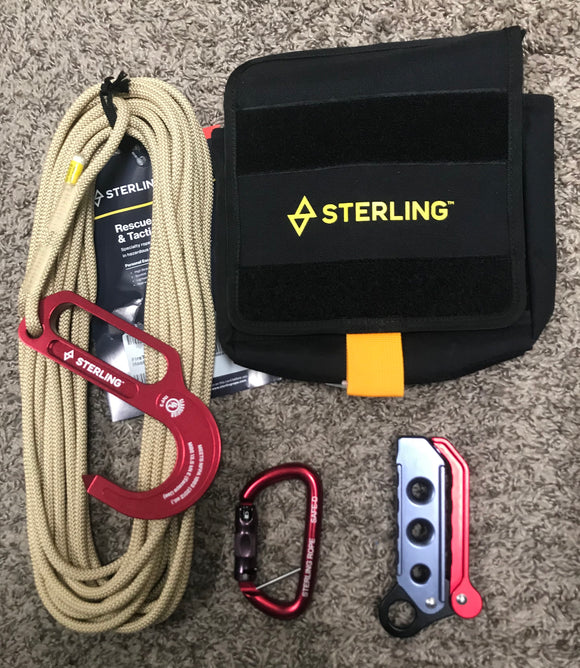 Sterling rope FCX FireTech Lightning Escape System w/Escape Kit Pocket Bag part#FCXFTKT