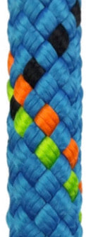 7/16-11.2mm NFPA/UL certified lifeline by pelican rope in low stretch 100% polyester fiber in bright blue color in a 100% polyester fiber similar to the lower stretch Sterling HTP models.  Spools of Rope Access SPRAT/IRATA/Rockfall ready kernmantle now at a deeply discounted sale closeout price in blue