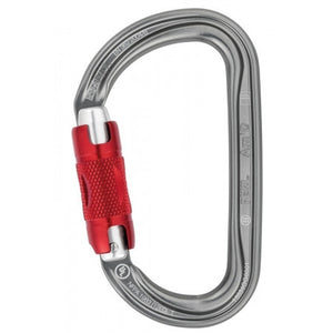 Petzl Am'D asymmetrical D carabiner -Auto-locking gate