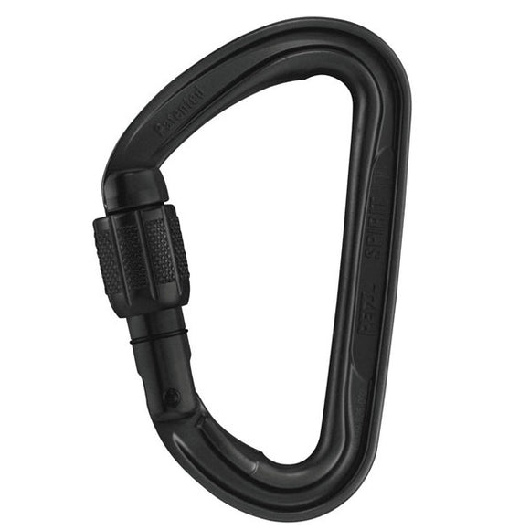 Petzl Spirit Screw-Lock Carabiner ~Black PART#M53A SLN