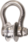 "CMI part#RP144 Stainless steel shackle, 1.25"" aluminum sheave -8000Lbs."