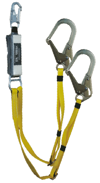 Yates 100% Tie Off 6ft. Adjustable Length Lanyards. Steel Hooks w/12ft. Free Fall Potential