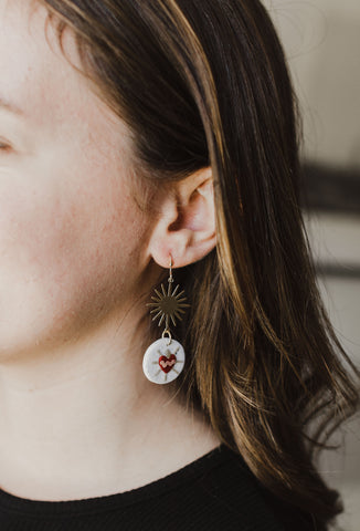 The Immaculate Heart Earrings