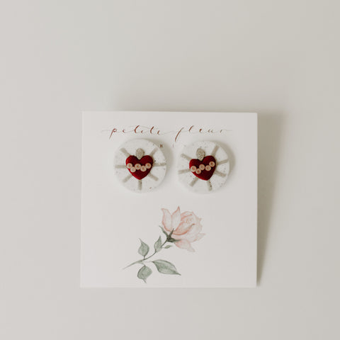 The Immaculate Heart Stud Earrings