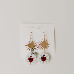 The Sacred Heart Earrings