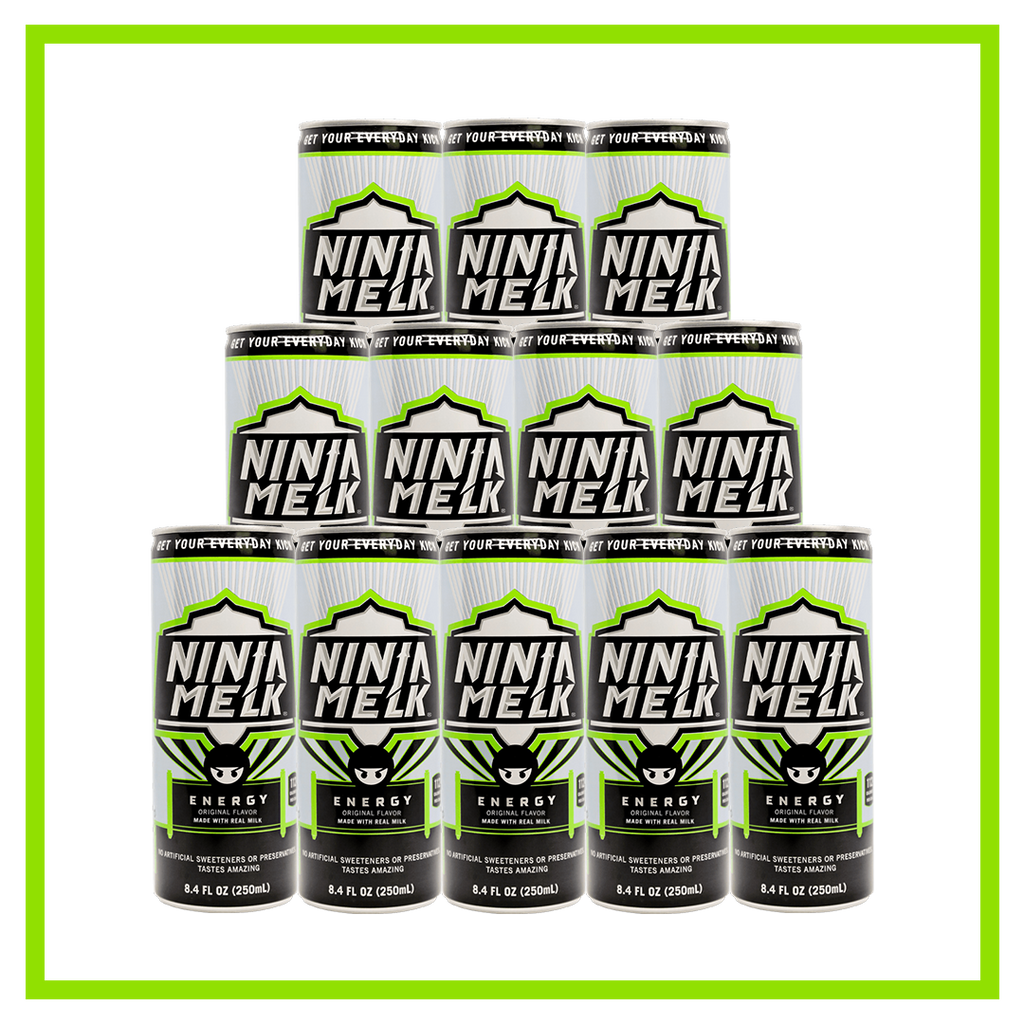 Ninja Melk Original Energy Drink -12 pack (12 x 8.4 Fl Oz Cans)